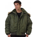Sage Green Military N-2B Parka Flight Jacket