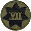 US Army 7th Corps VII Subdued Patch