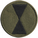 US Army 7th Infantry Division Subdued Military Patch
