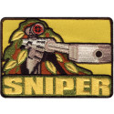 "Camouflage Gun Sniper Shooting Hunting Hook Patch 2.5"" x 3.5"""