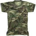 Woodland Camouflage Vintage Kids Military Tactical T-Shirt