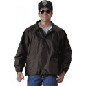 Black Law Enforcement Lined Coaches Uniform Jacket