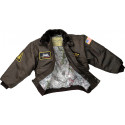 Kids Brown Military Replica WWII Aviator Flight Jacket
