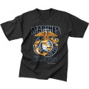 Black US Marines Globe & Anchor T-Shirt