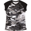City Camouflage Short Sleeve Raglan Women's T-Shirt