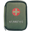 Olive Drab First Aid Red Cross Zipper Pouch