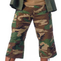 Woodland Camouflage Military Capri Rip-Stop Fatigue BDU Pants