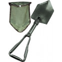 Olive Drab Deluxe Tri-Fold Shovel With Cover