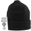 Black Military Winter Beanie Hat Acrylic Wintuck Watch Cap USA Made