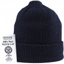 Navy Blue Military Winter Beanie Hat Wool Watch Cap