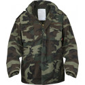 Woodland Camouflage Vintage Military M-65 Field Jacket