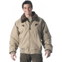 Khaki Vintage Military B-15A Tactical Bomber Jacket