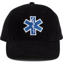 Black EMS Logo Supreme Low Profile Adjustable Cap