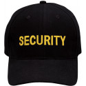 Black Law Enforcement Security Gold  Supreme Low Profile Adjustable Cap