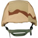 Tri-Color Desert Camouflage Military Combat Helmet Cover