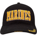 Black Military Marines Deluxe Low Profile Adjustable Cap
