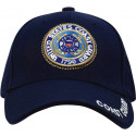 Navy Blue Military US Coast Guard Deluxe Low Profile Adjustable Cap