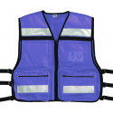 Blue High Visibility EMS Oxford Tactical Rescue Vest
