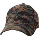 Woodland Digital Camouflage Kids Low Profile Baseball Cap