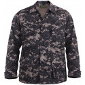 Subdued Urban Digital Camouflage BDU Fatigue Jacket Coat Shirt
