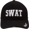 Black Law Enforcement SWAT Deluxe Low Profile Adjustable Cap