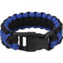 Royal Blue & Black Deluxe Survival Paracord Cobra Bracelet w/ Buckle