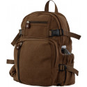 Earth Brown Vintage Military Canvas Mini Backpack
