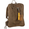 Earth Brown Vintage Military Canvas Flight Bag