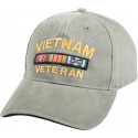 Olive Drab Vintage Military Vietnam Veteran Deluxe Low Profile Adjustable Cap