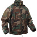 Woodland Camouflage Military Special Operations Tactical Soft Shell Jacket
