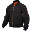 Black Military Air Force Soft Shell MA-1 Flight Jacket
