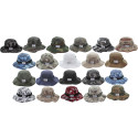 Camouflage Hunting Fishing Wide Brim Boonie Bucket Hat with ARMY UNIVERSE Pin