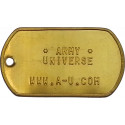 Solid Brass Custom Embossed ID Tag Military Style Dog Tag