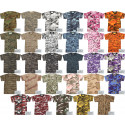 Mens Camo Military T-Shirt Short Sleeve Crewneck Tee with ArmyUniverse Pin